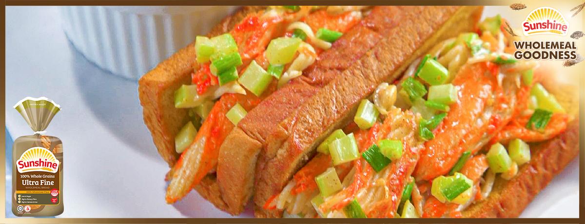 Sunshine Bakeries_Snow Crab Roll with Ultra Fine Crispy Bread_1200 x 460